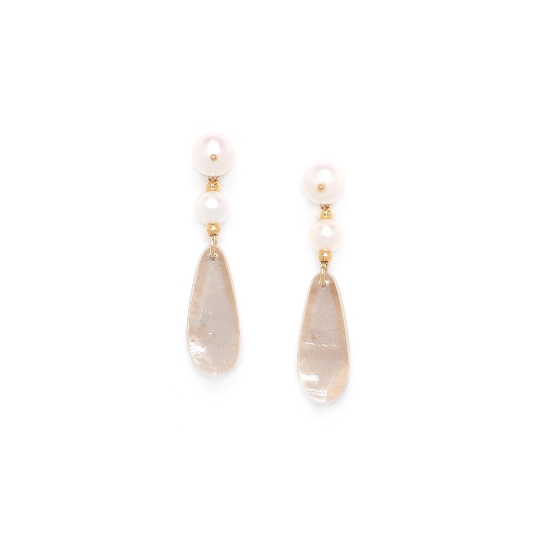 SWEET PEARL  boucles d'oreilles deux perles de culture