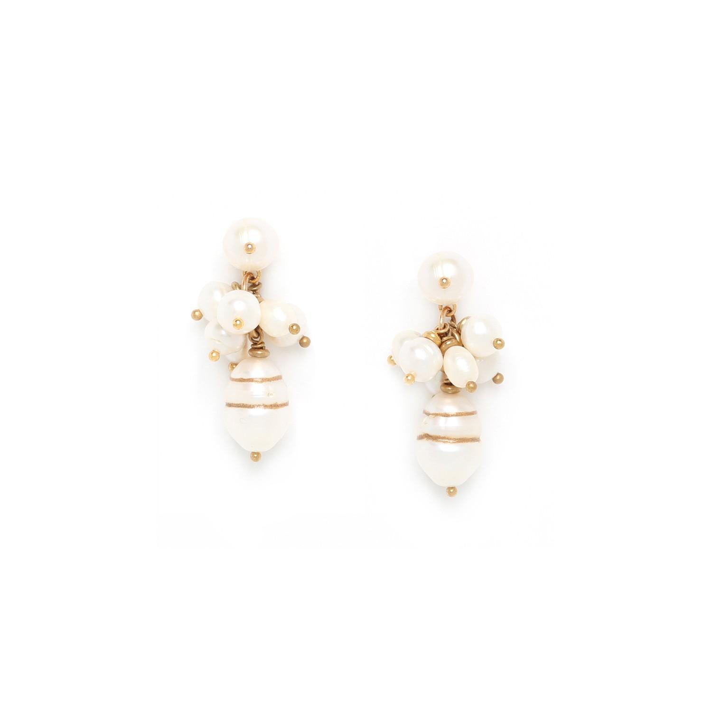 SWEET PEARL pearl grape earrings