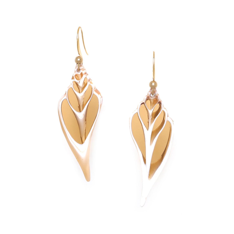 LAGOON caramel conus earrings