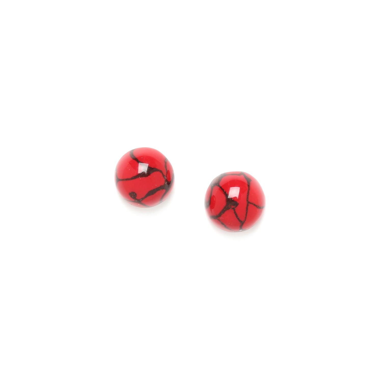 MANAKARA half bead post earrings