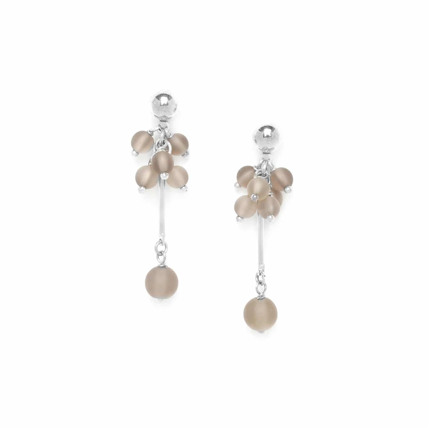 OMBRE ET LUMIERE  smoky quartz grape earrings