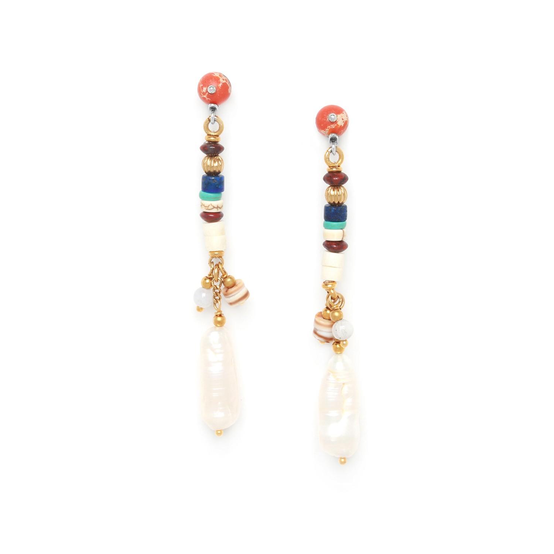KALI pearl long earrings