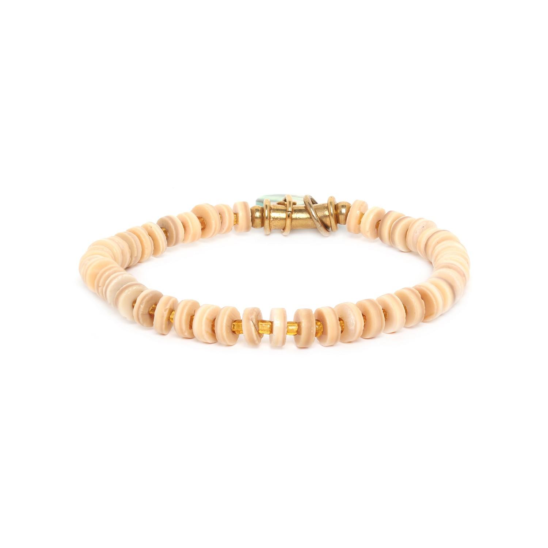 SEYCHELLES bracelet extensible perles alternées
