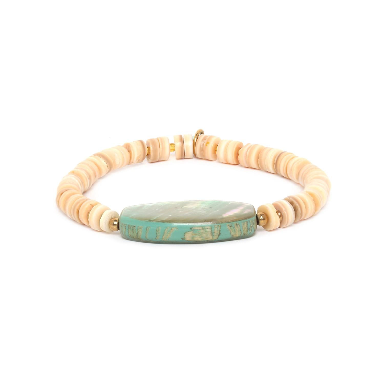 SEYCHELLES bracelet extensible avec paua