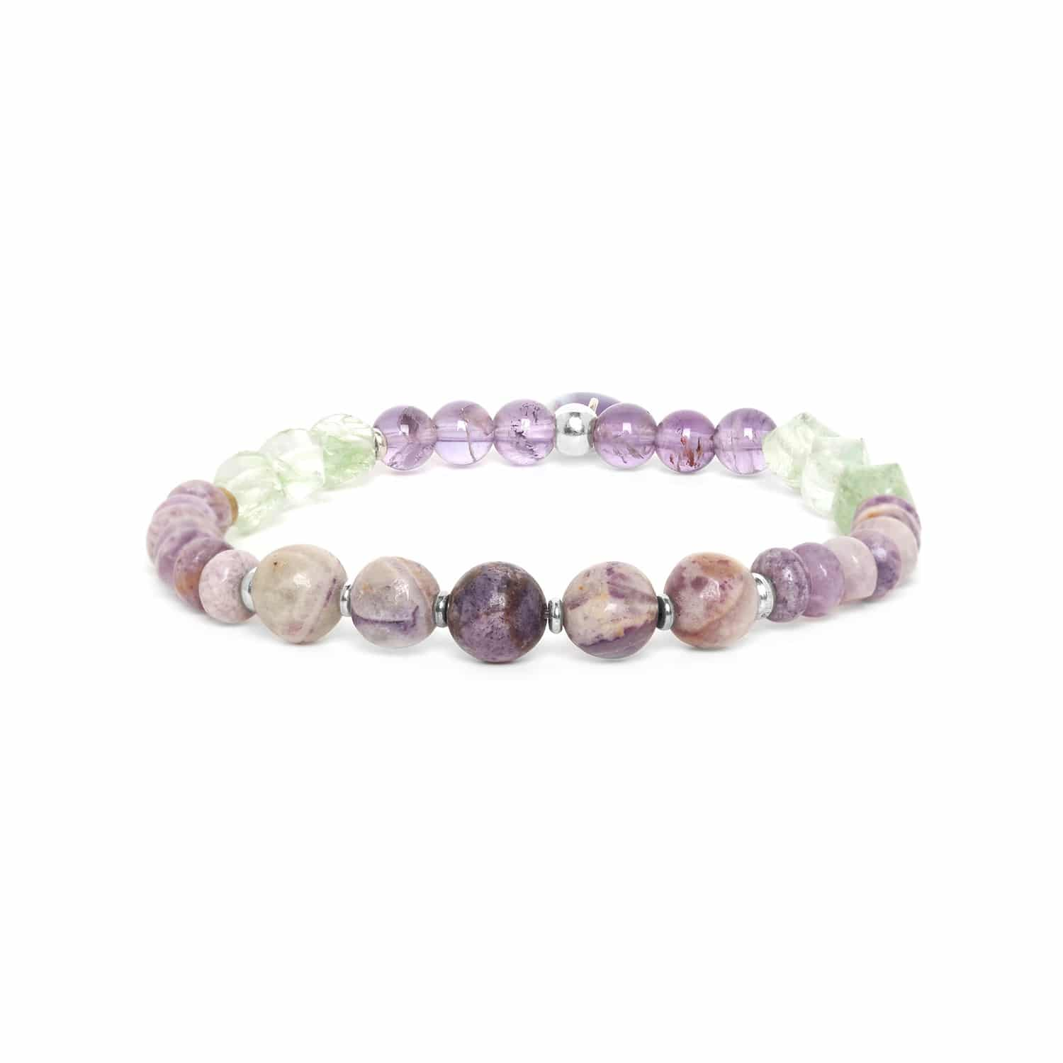 WATER LILY  assorted stones stretch bracelet