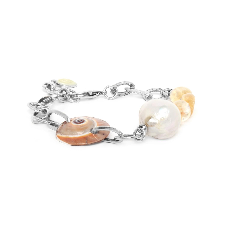 MAKATEA  nautica, citrine & perle de culture bracelet