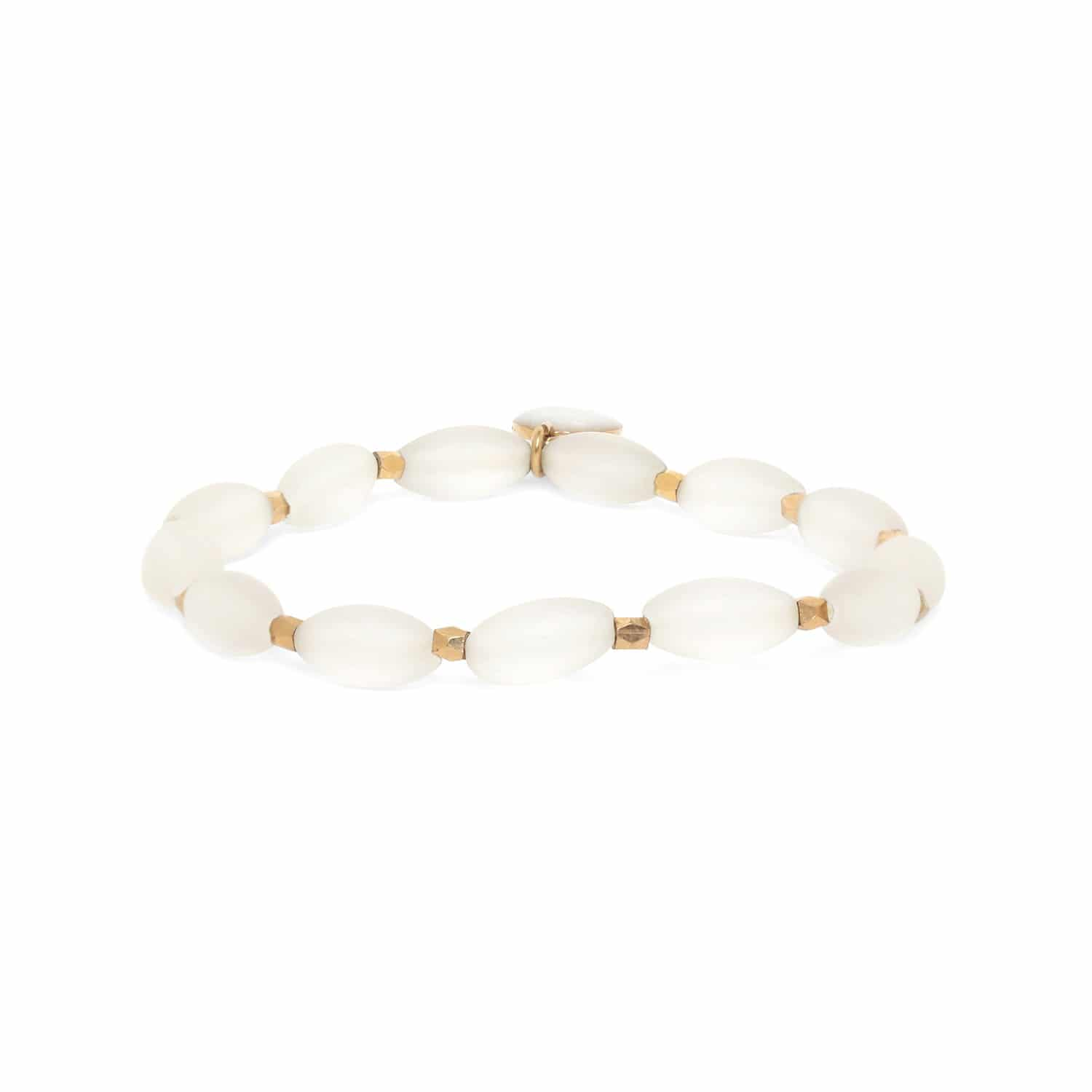 OMBRE ET LUMIERE  rock crystal olive stretch bracelet