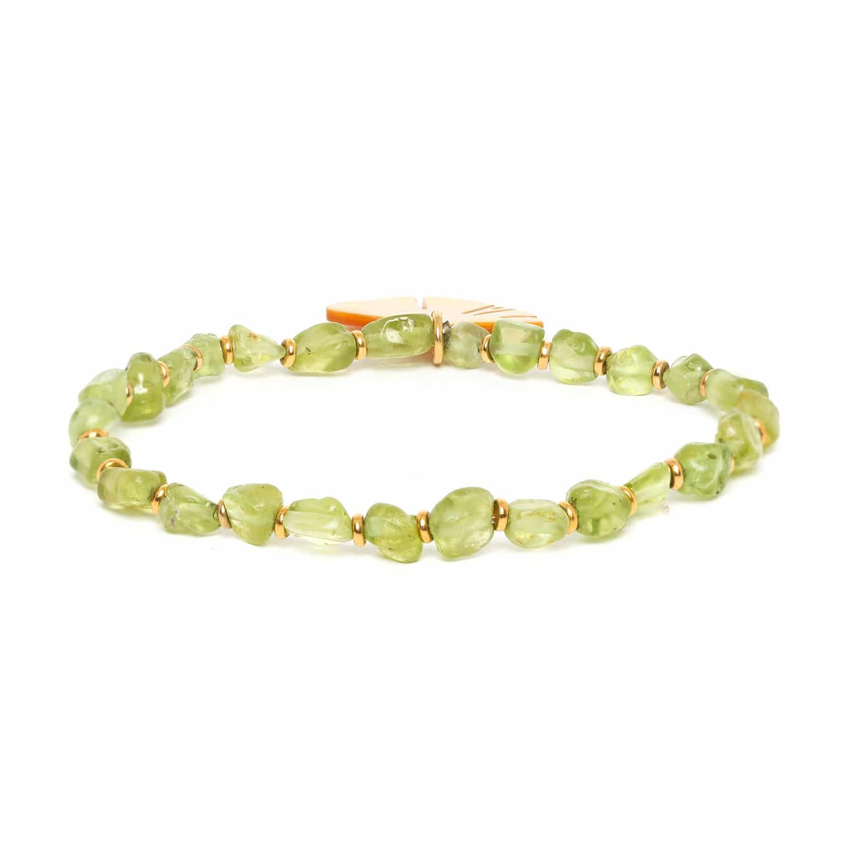 GINKGO bracelet extensible péridot