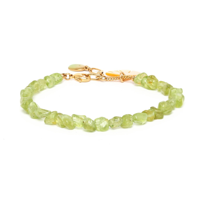GINKGO bracelet péridot