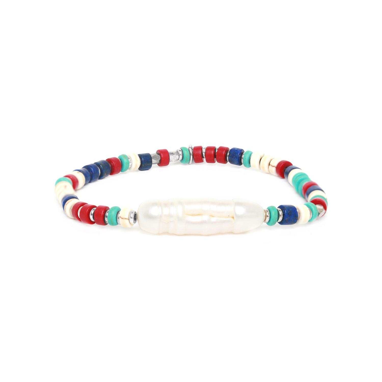 KALI bracelet extensible longue perle de culture