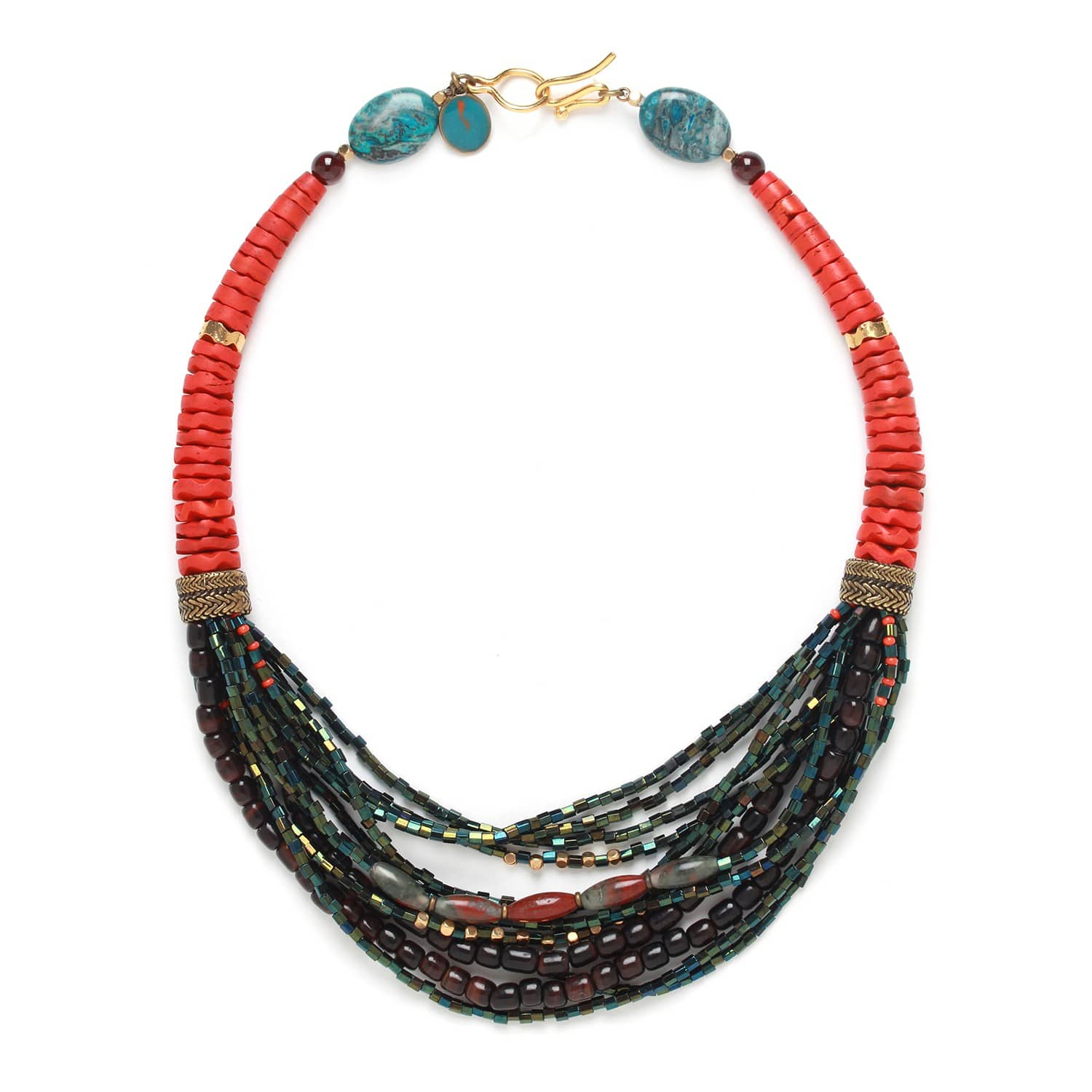 PIGMENTS multi row necklace
