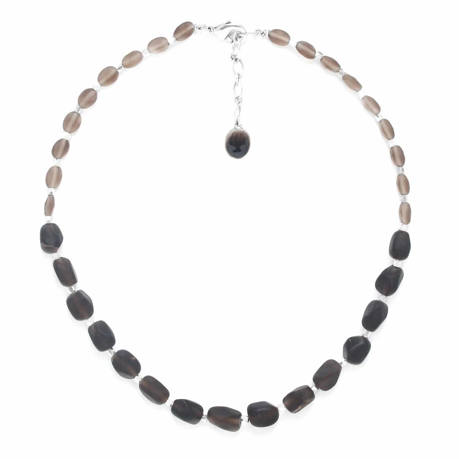 OMBRE ET LUMIERE smoky quartz necklace