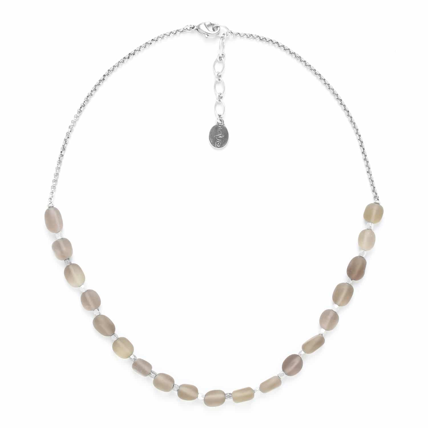 OMBRE ET LUMIERE  smoky quartz necklace with chain