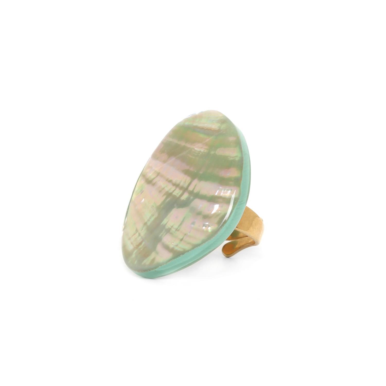 SEYCHELLES bague paua