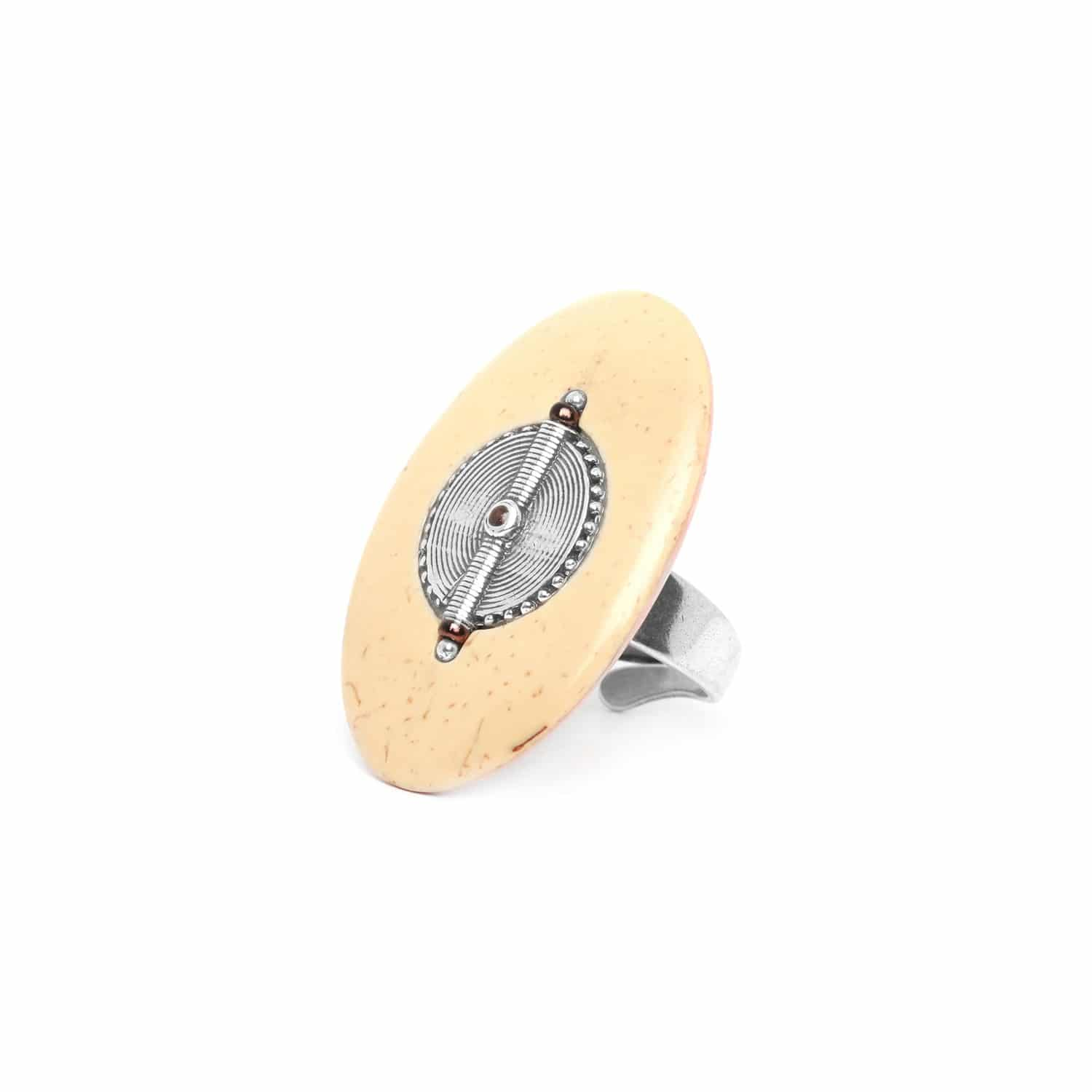 TERRE DOUCE coco & silver ring
