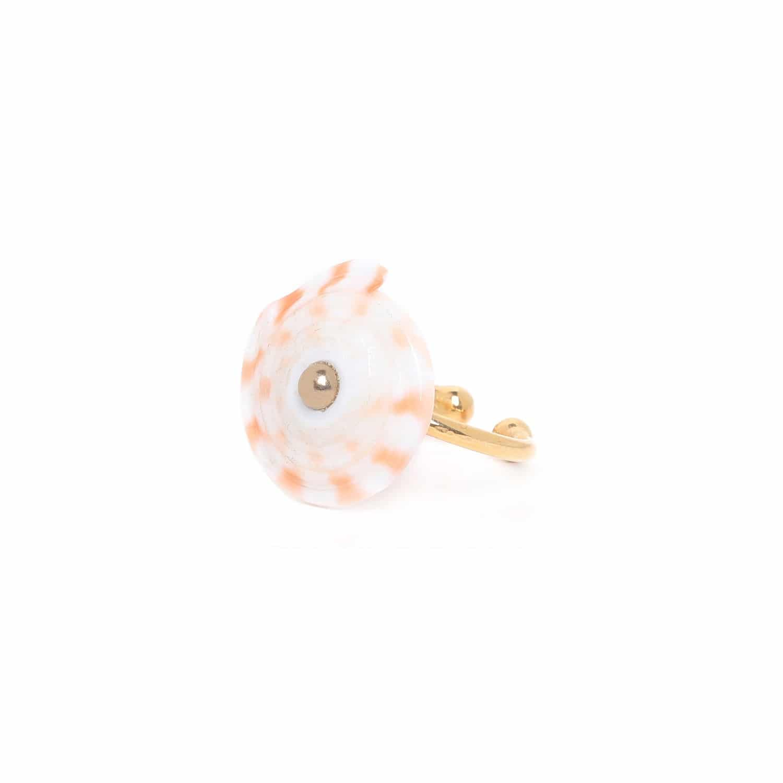 LAGOON conus shell round ring