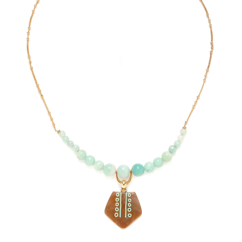 CELADON collier amazonite petit pendentif