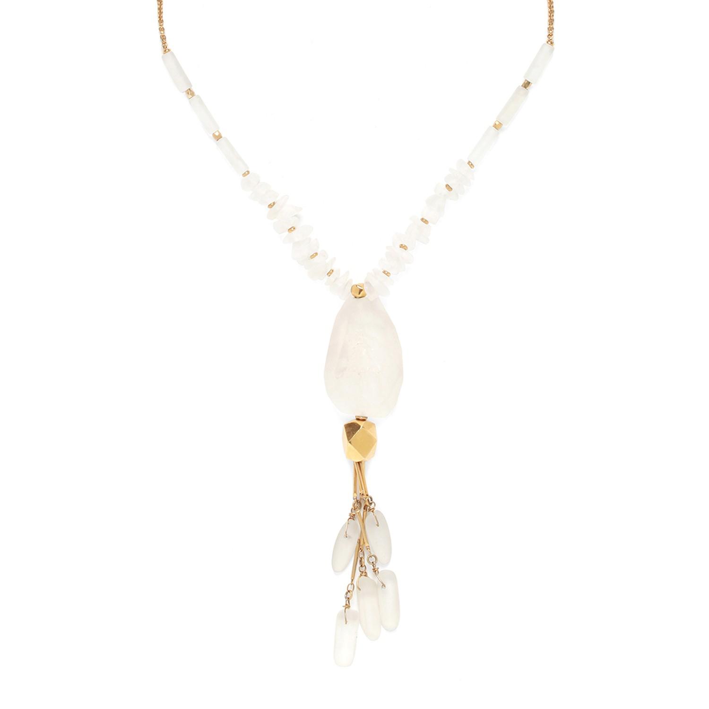 OMBRE ET LUMIERE collier pendentif cristal de roche