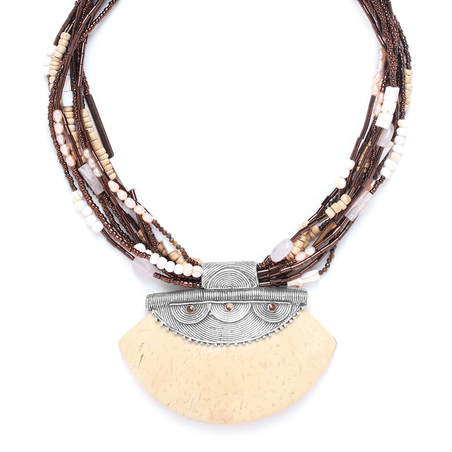 TERRE DOUCE statement necklace