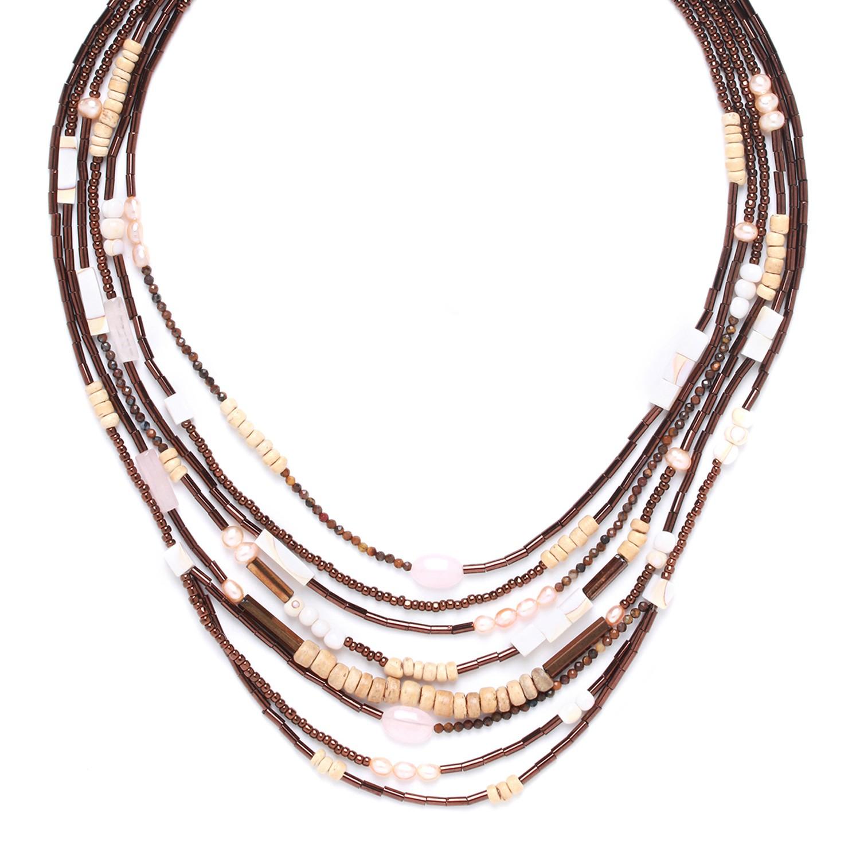TERRE DOUCE multi row necklace