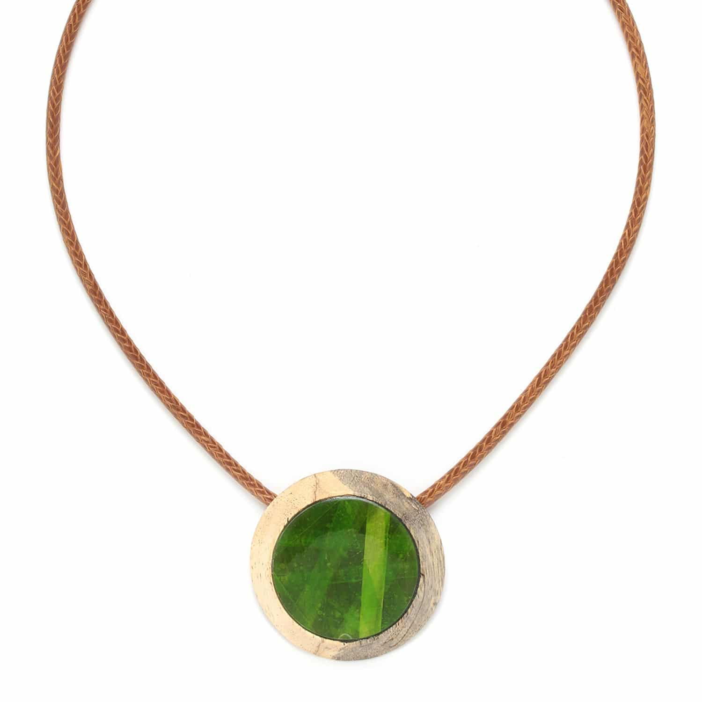 RAPHIA collier petit pendentif