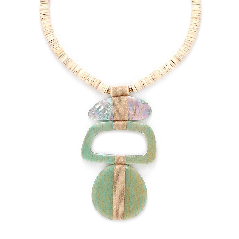 SEYCHELLES  collier pendentif trois éléments