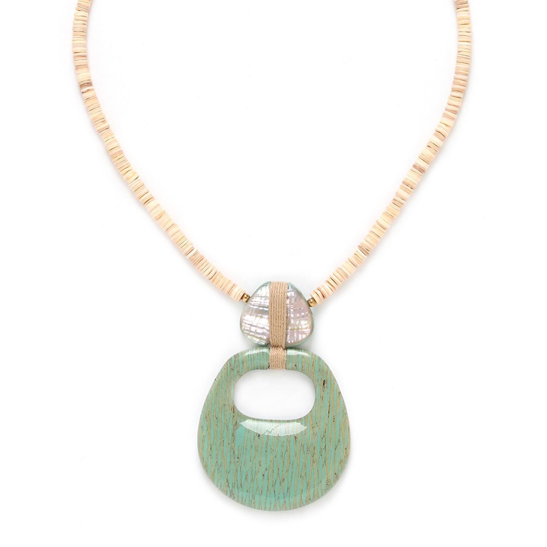 SEYCHELLES  collier pendentif deux éléments