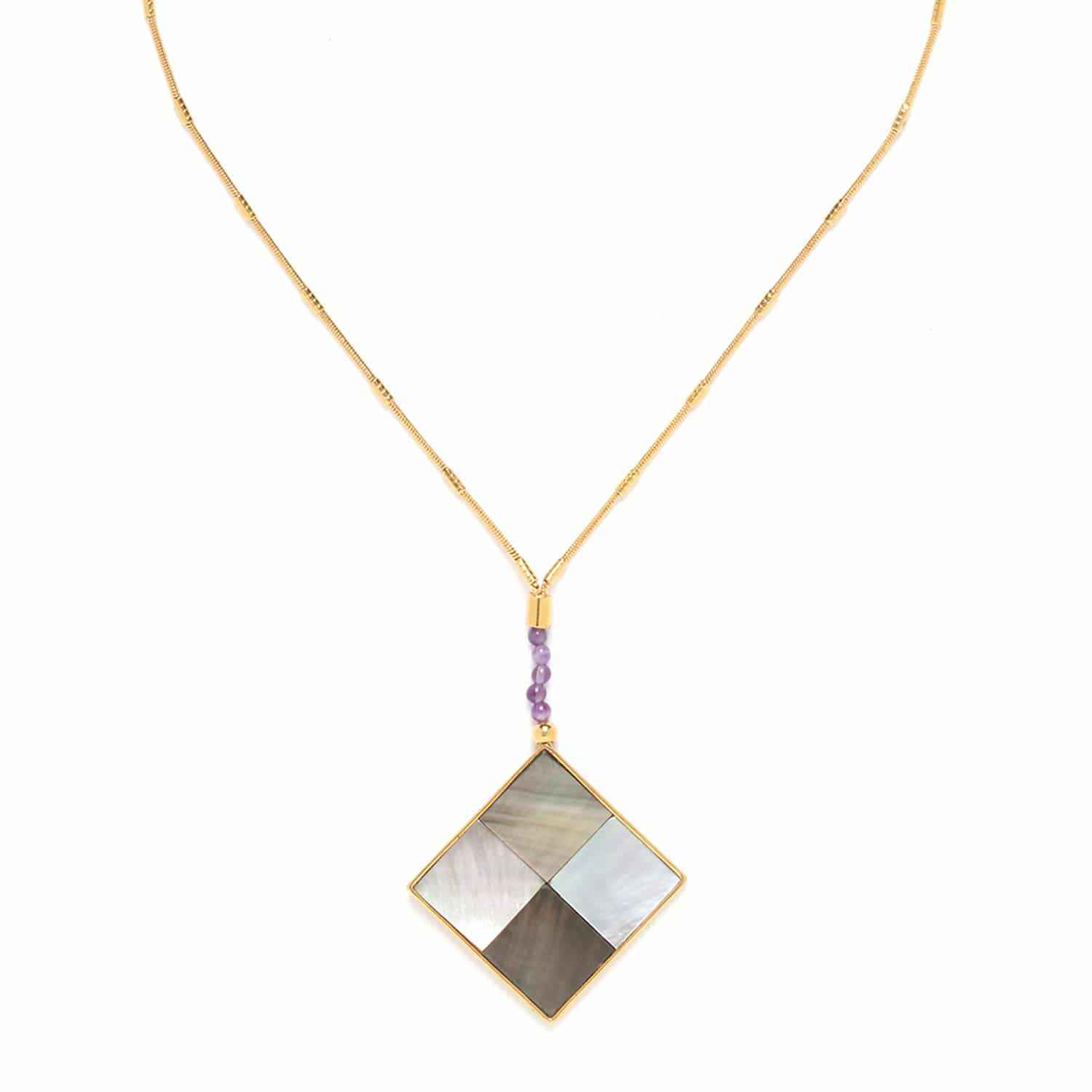 LE SQUARE collier grand pendentif