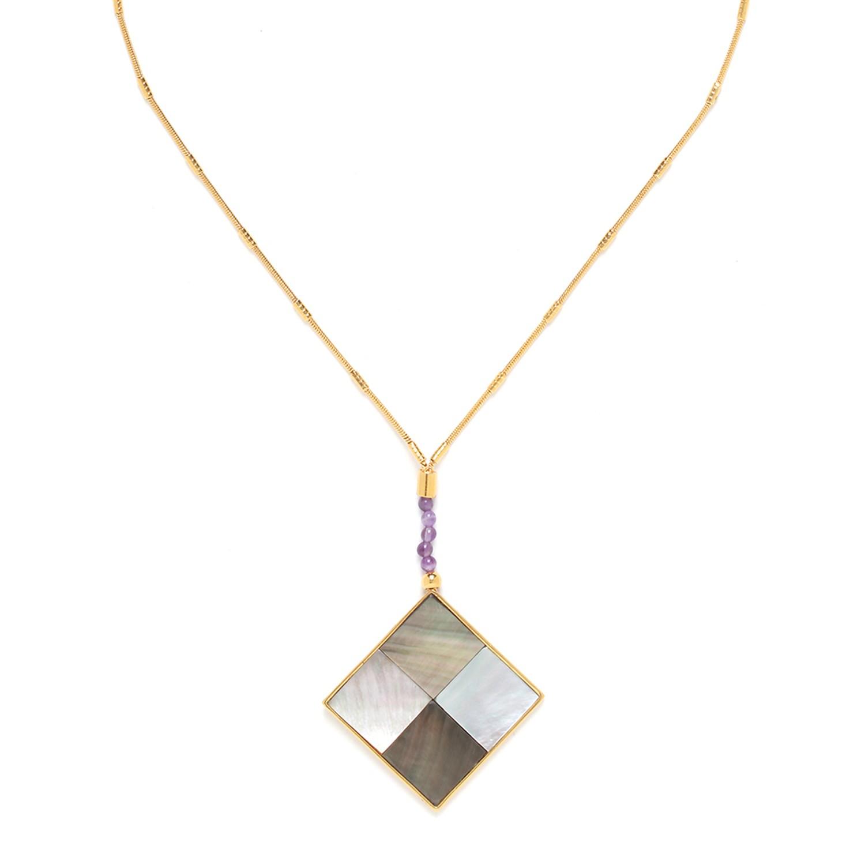 LE SQUARE big pendant necklace