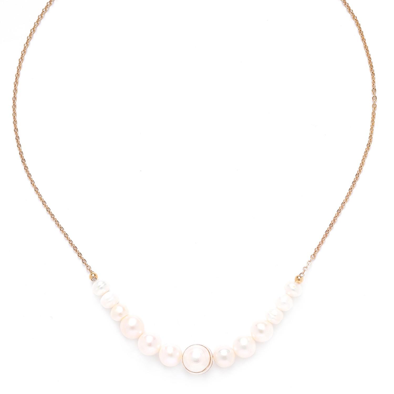 SWEET PEARL  collier perles de culture chaîne or
