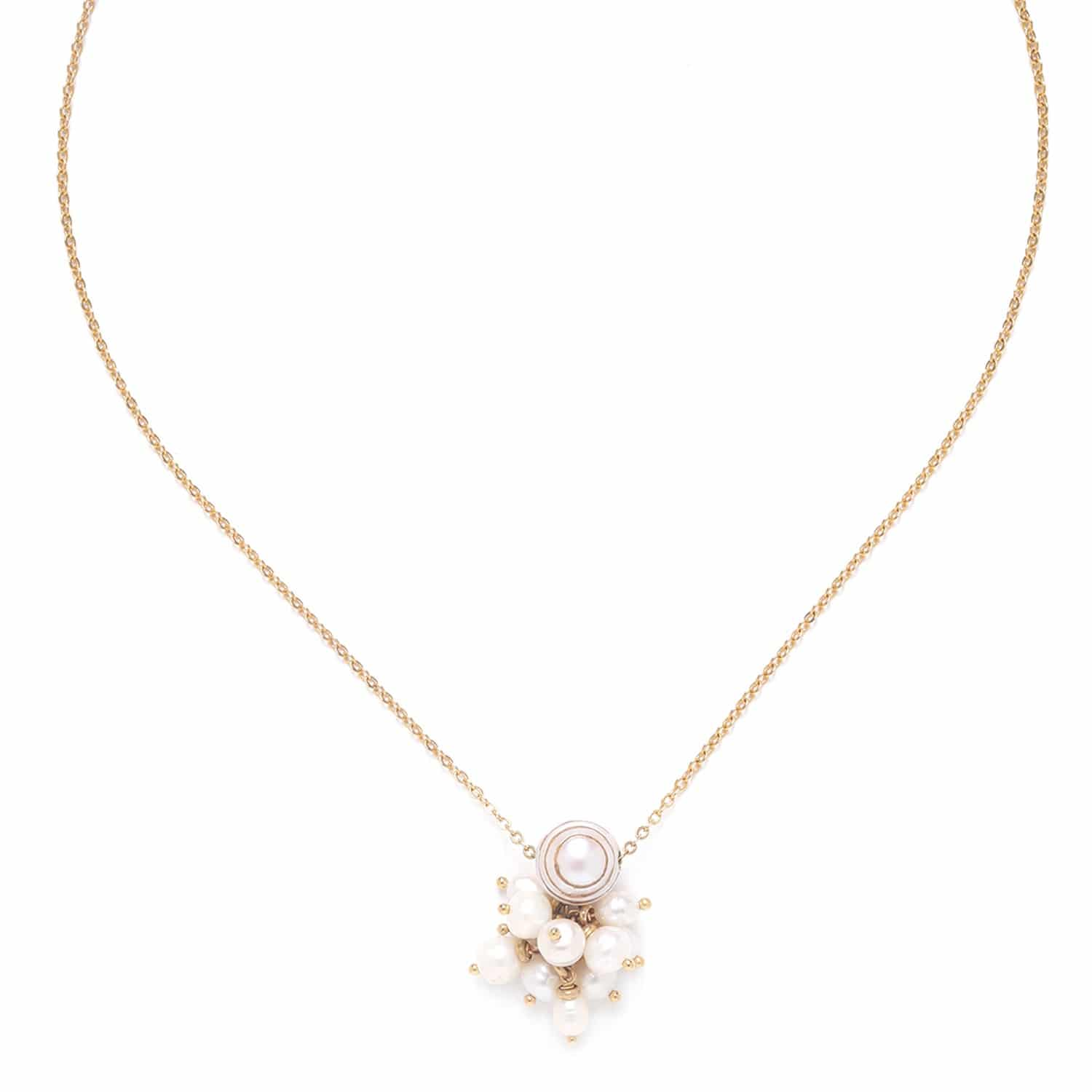 SWEET PEARL  collier grappe de perles de culture
