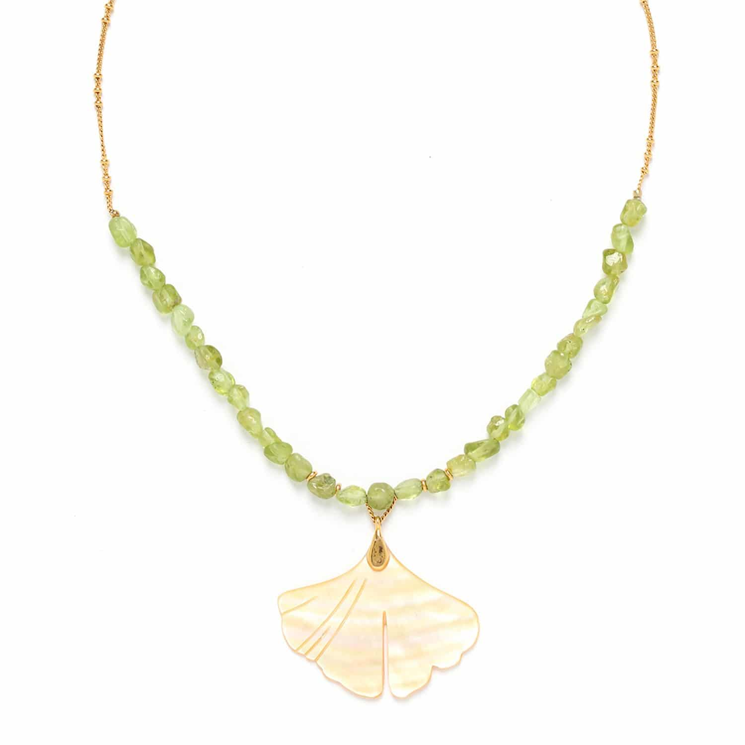 GINKGO big leaf necklace