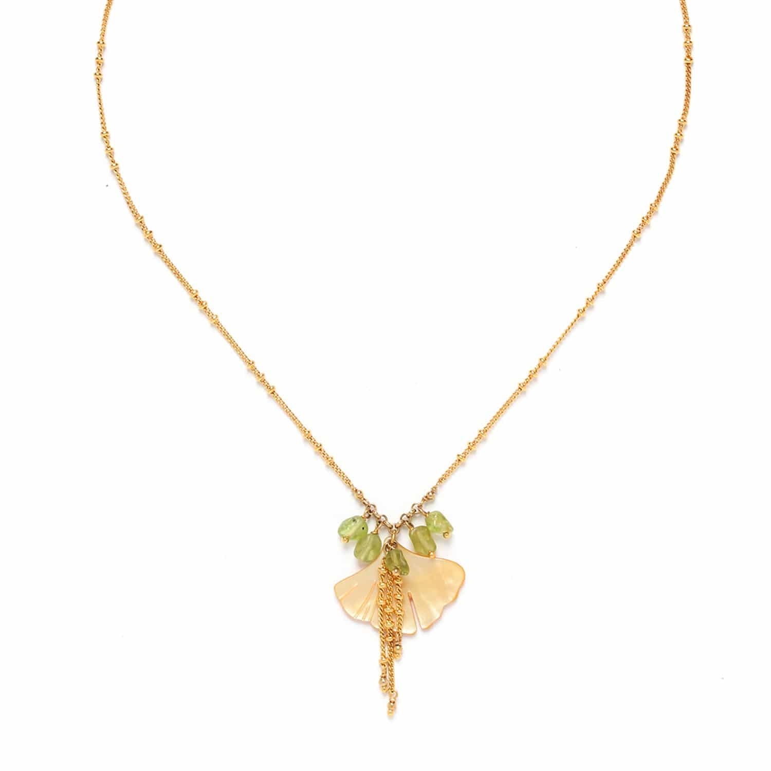 GINKGO collier petite feuille