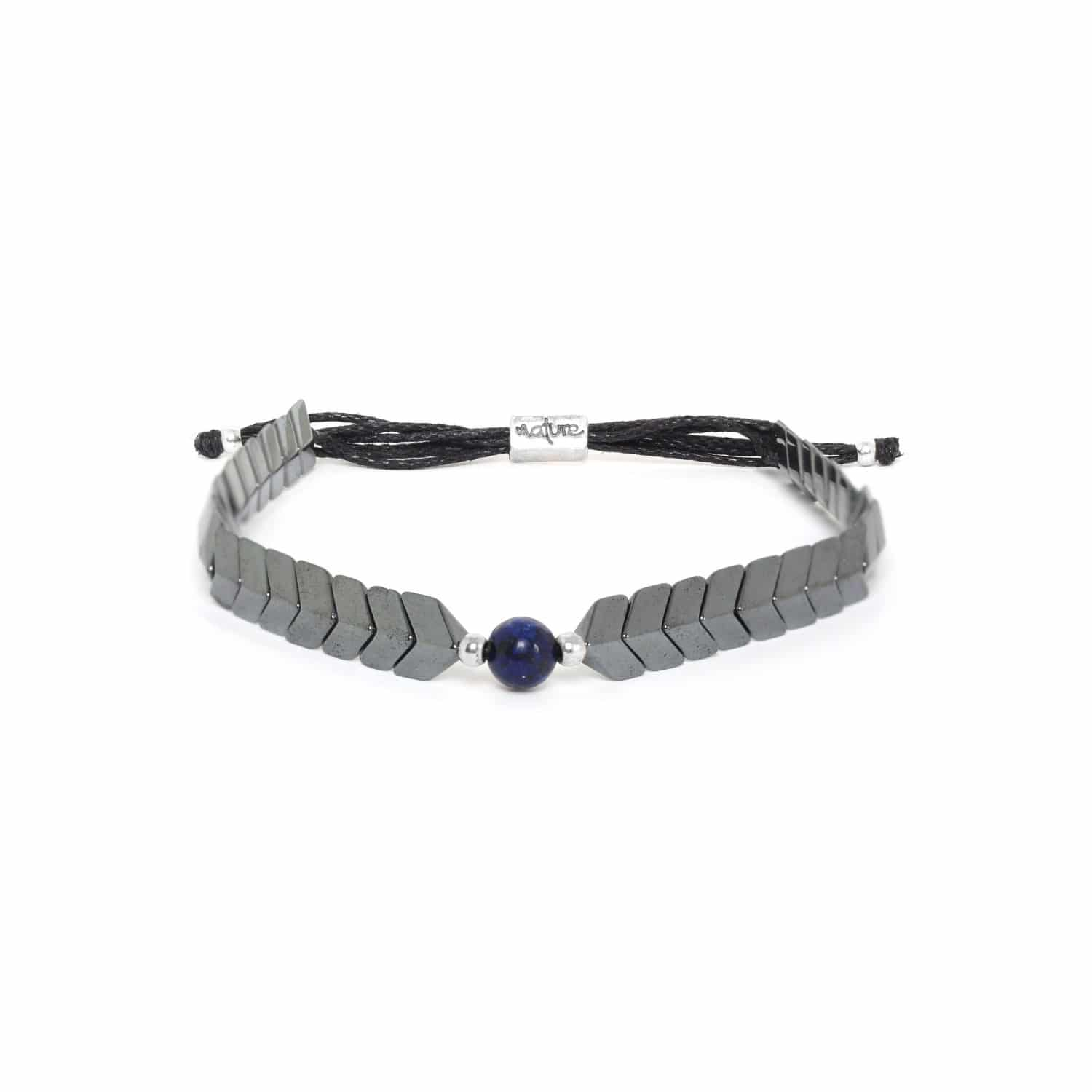 CAPORAL hematite adjustable bracelet blue