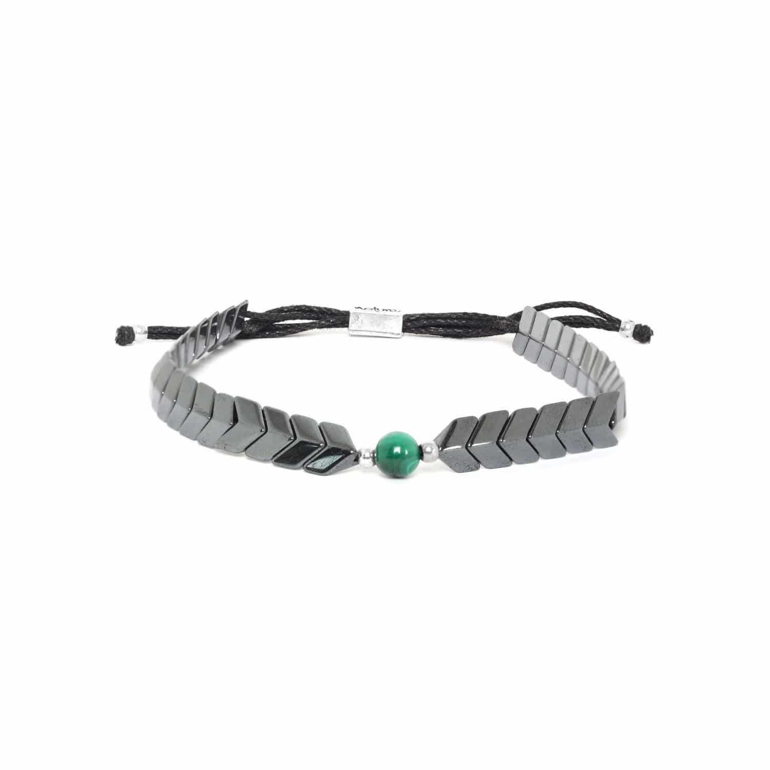 CAPORAL hematite adjustable bracelet green