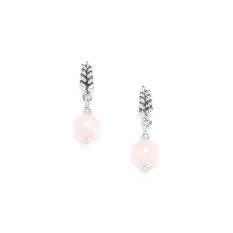 WHEAT boucles d'oreilles quartz rose