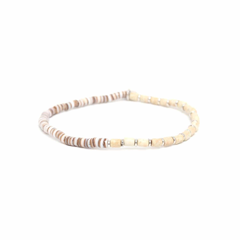 SAMBA bracelet howlite blanche