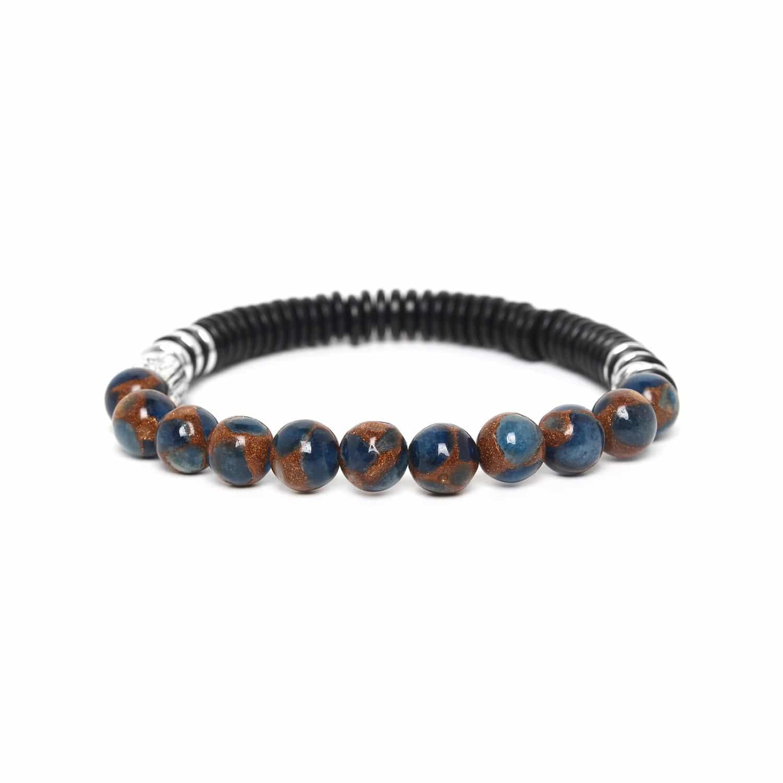 IROQUOIS bracelet terrazzo bleu foncé