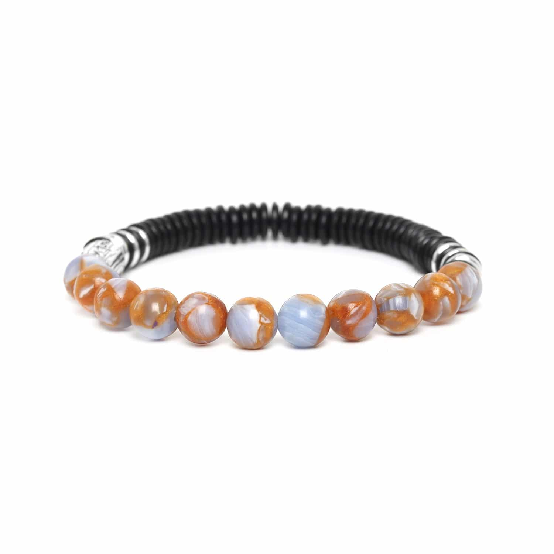 IROQUOIS bracelet terrazzo bleu clair