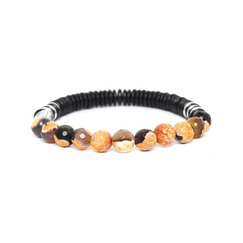 IROQUOIS bracelet agate orange
