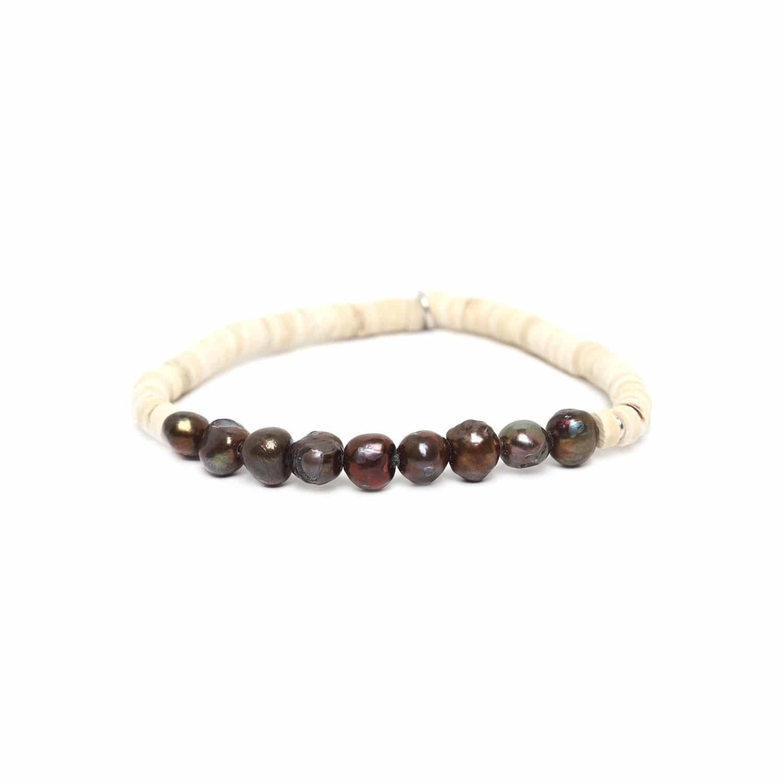 COCO PEARL copper pearl bracelet
