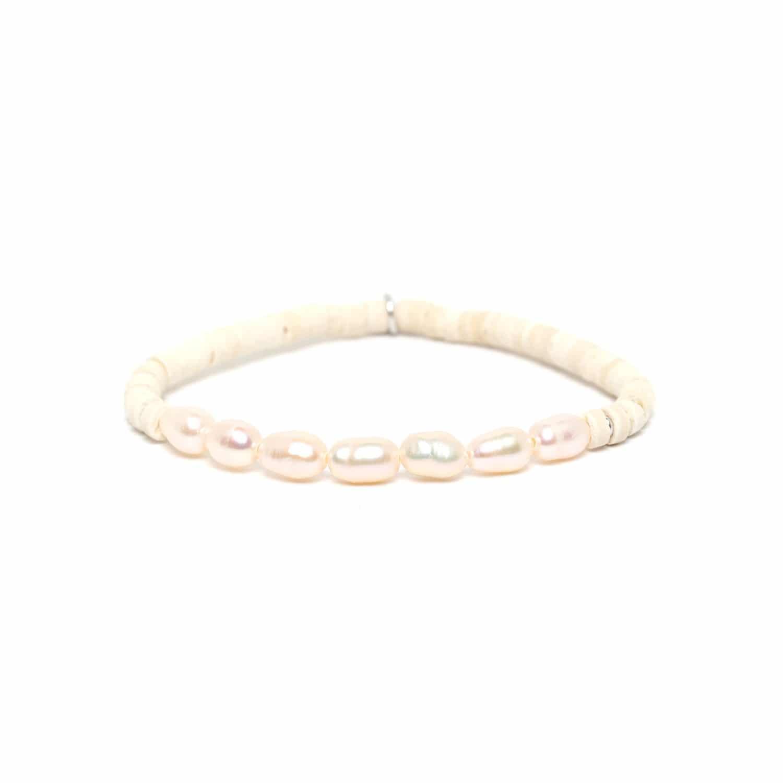 COCO PEARL bracelet perles blanche