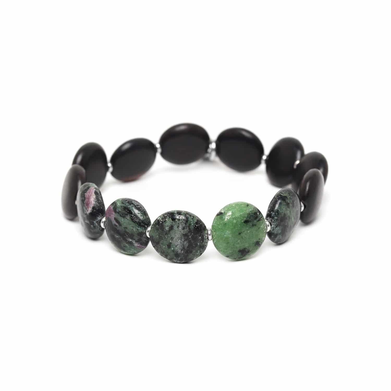 PILLS chrysocolla & ebony bracelet