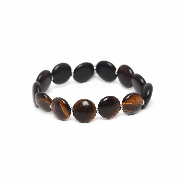 PILLS bracelet oeil de tigre & ébène