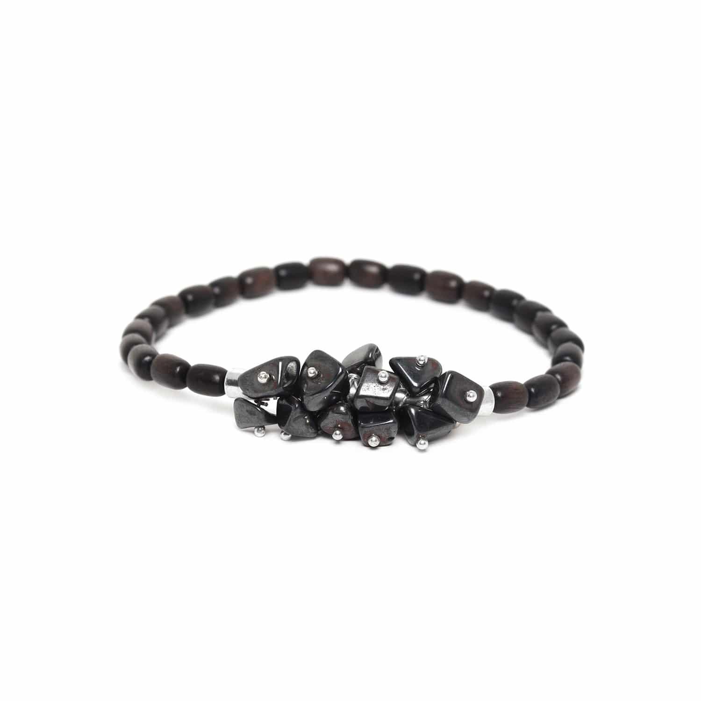 CRANBERRIES hematite & ébony bracelet