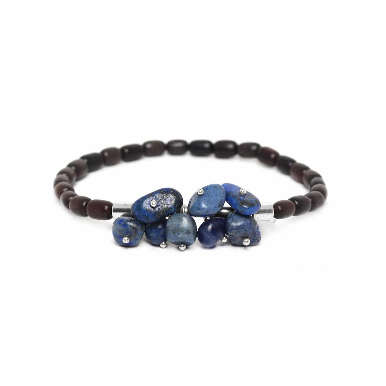 CRANBERRIES lapis & ebony bracelet