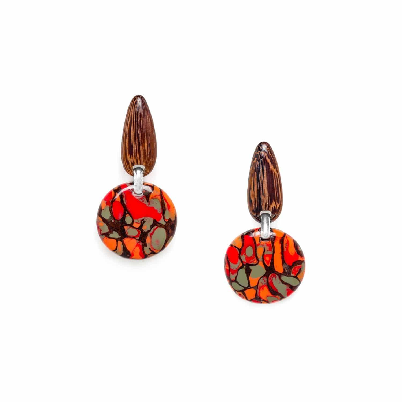AMAZONIA boucles d'oreilles clips rondes