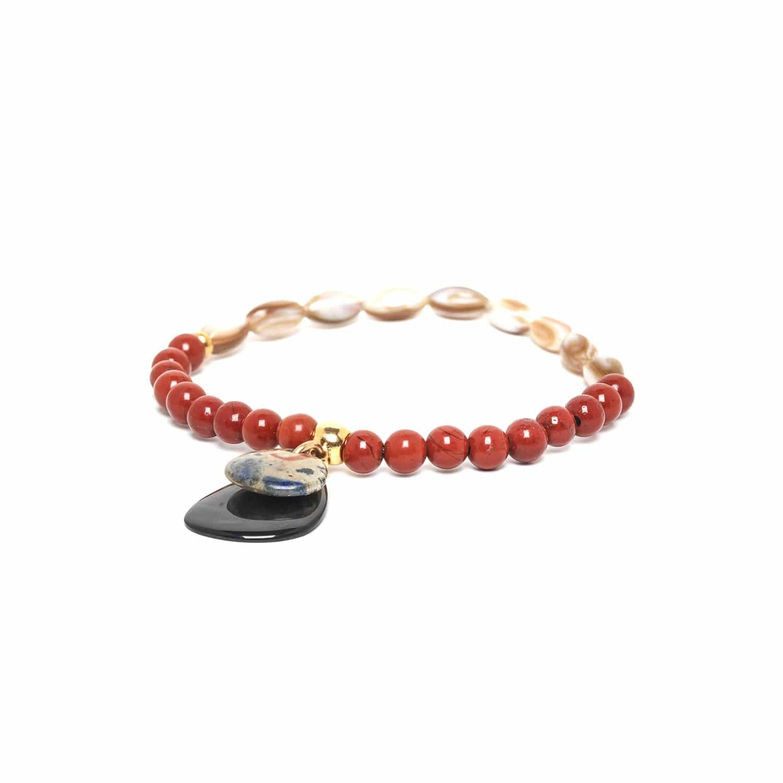 GAUDI jasper & MOP stretch bracelet
