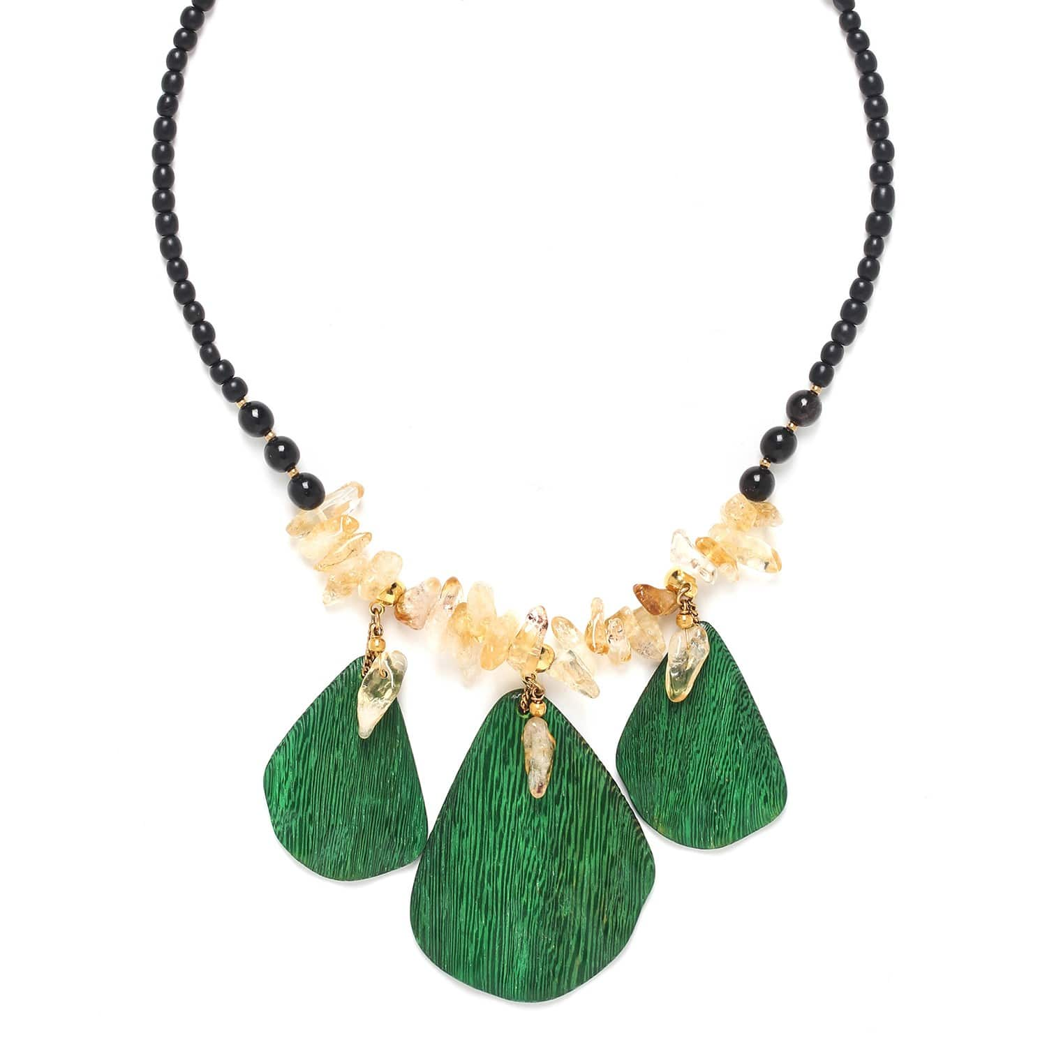 WILD LEAVES collier 3 feuilles