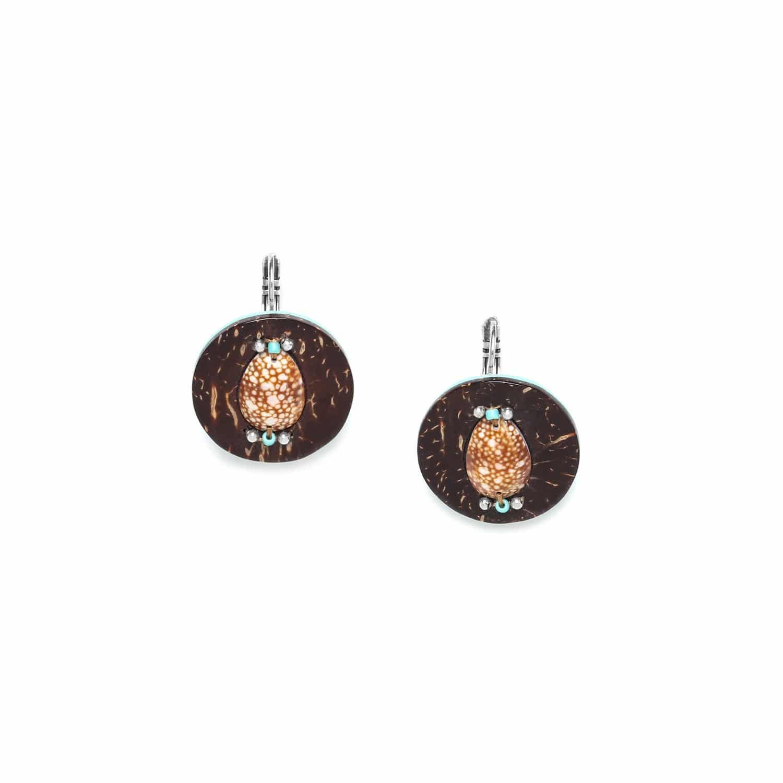MARACAIBO small earrings coconut and shell